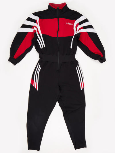 Adidas All-in-One with Elasticated Waist Black / Red / White Size Large