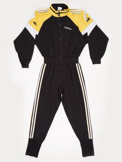 Adidas All-in-One with Elasticated Waist Black / Yellow / White Size Medium