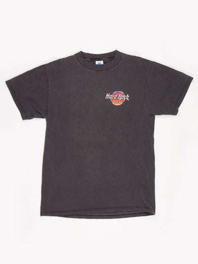 Hard Rock Cafe Maui Printed T-Shirt Black / Multi Size Large