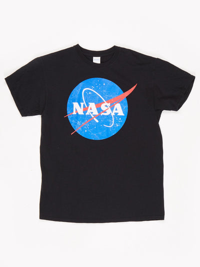 Nasa Printed T-Shirt Black / White / Red / Blue Size Medium