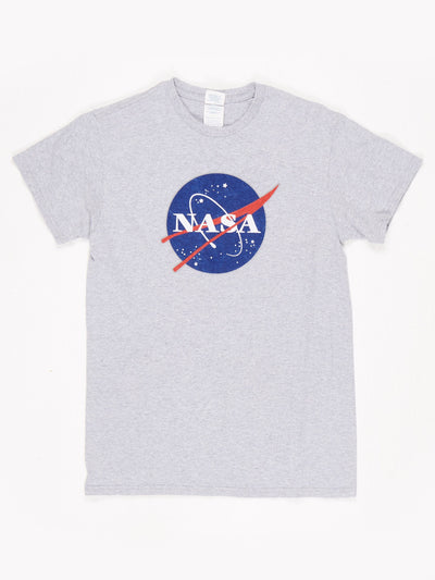Nasa Printed T-Shirt Grey / White / Red / Blue Size Small