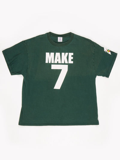 7up 'Make 7 Up Yours' Printed T-Shirt Green / White Size XL
