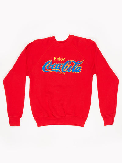 Coca-Cola Branded Sweatshirt Red / Yellow / Blue Size Small