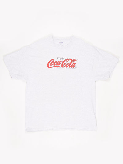 Coca-Cola Branded T-Shirt Grey / Red / Black Size XL