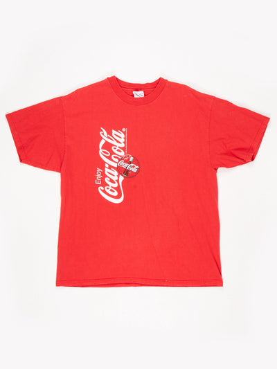 Coca-Cola Branded T-Shirt Red / White Size XL