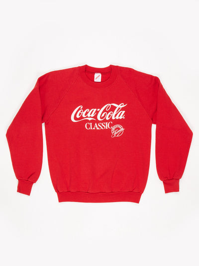 Coca-Cola Branded Sweatshirt Red / White Size Large