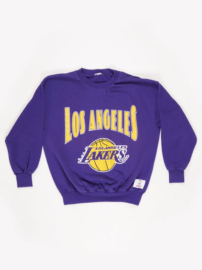 Los Angeles Lakers 90's Sweatshirt Purple / Yellow Size XL