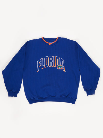 Florida Gators American Football Sweatshirt Blue/Green/Orange Size XL