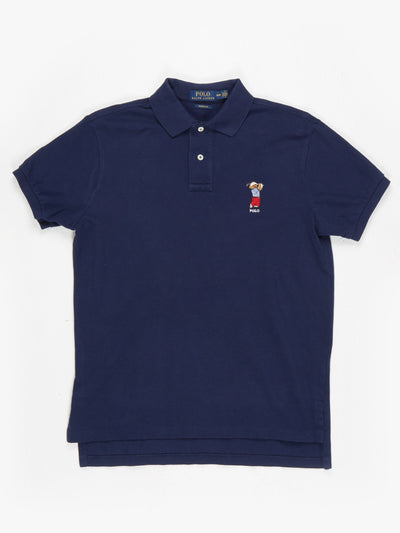 Ralph Lauren Bear Polo Shirt Navy Size Medium