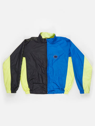 Nautica Compeition Nylon Jacket Black / Blue / Yellow Size XL