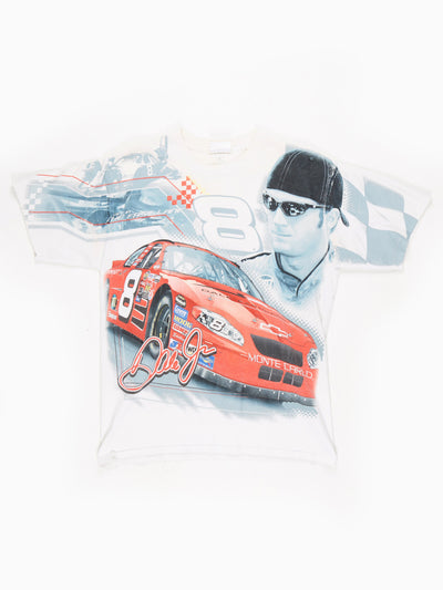 Dale Earnhardt Jnr Nascar T-shirt White / Red Size Medium