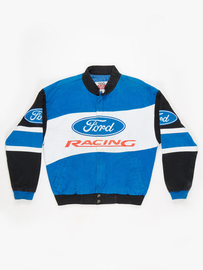 Ford Nascar Racing Jacket Blue / Black / Red Size Small