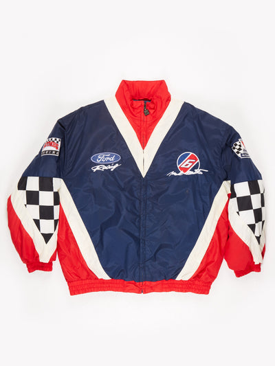 Ford Racing Nascar Padded Jacket Blue / White / Red Size XL