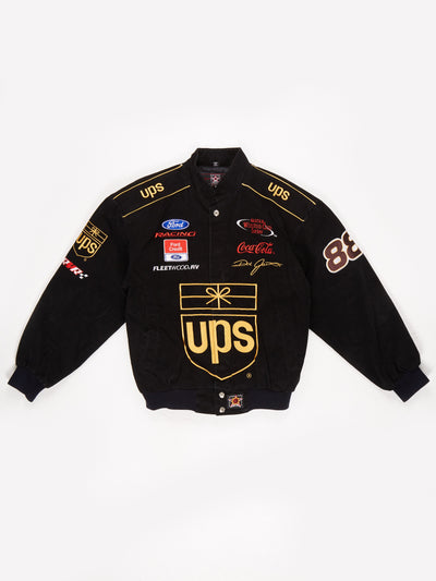 UPS Ford Racing Nascar Jacket Black / Yellow Size Medium