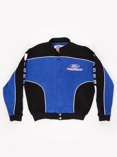 Ford Racing Nascar Jacket Blue / Black Size Large