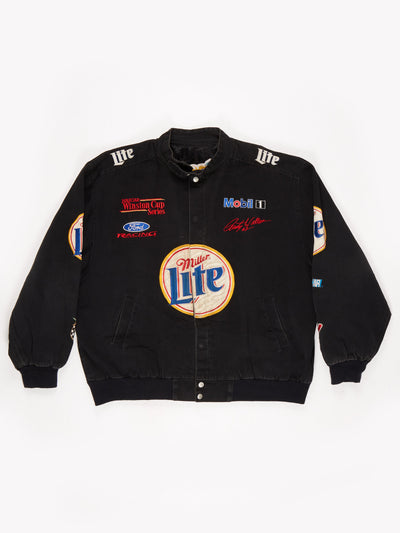 Miller Lite Nascar racing Jacket Black Size XL