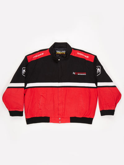 Dodge Motosports Nascar racing Jacket Black / Red Size XXL