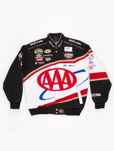AAAcom Nascar Racing Jacket Black / Red / White Size Medium