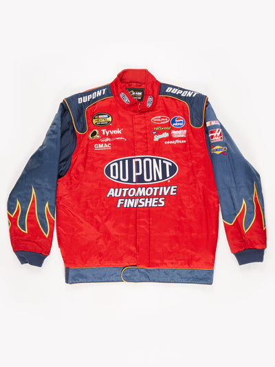 Dupont Nascar Racing Jacket Red / Grey Size Medium