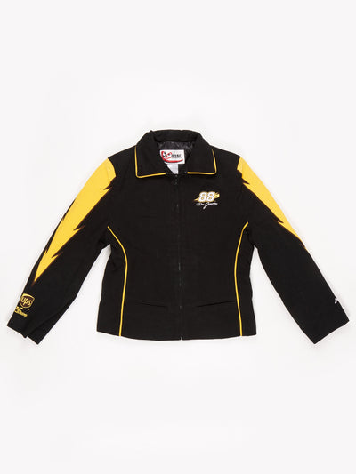 Dale Jarret UPS Racing Nascar Jacket Black / Yellow Size Small