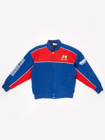 Jeff Gordon 24 Dupont Nascar Racing Jacket Blue / Red Size Medium