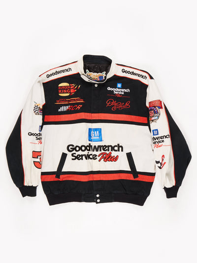 Darle Earnhardt 90's Nascar Racing Jacket Black / Cream Size XL
