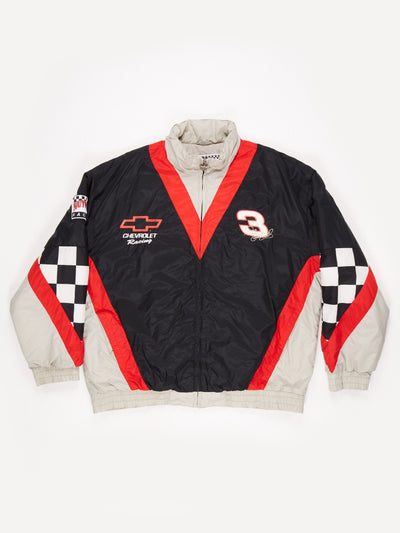 Dale Earnhardt 90's Nascar racing padded Jacket Black / Red Size XL