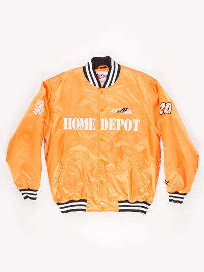 Home Depot Nascar Bomber Jacket Orange Size Large