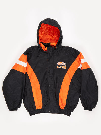 Starter Philadelphia Flyers NHL Padded Pro Sport Jacket Black Orange Size XL