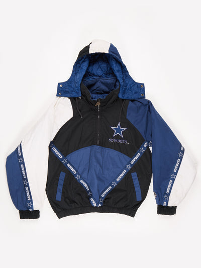 Dallas Cowboys NFL Padded Pro Sport Jacket Blue / Black Size Large