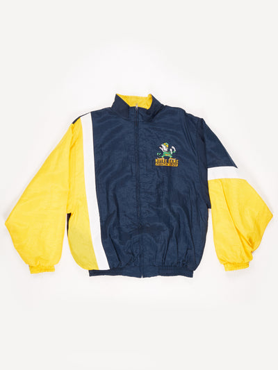 Notre Dame Fightin Irish American Sports Shell Jacket Blue / Yellow Size Large