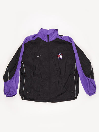 Nike Toronto Raptors NBA Shell Jacket Black / Purple Size XXL