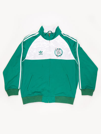 Adidas Boston Celtics NBA Champions Zip Thru Sweatshirt Green / White Size Large