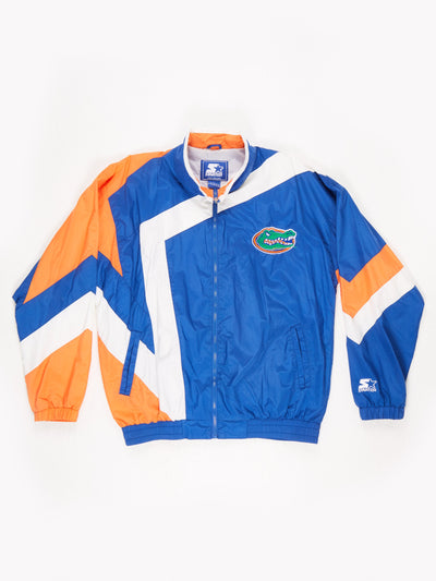 Starter Florida Gators American Football Shell Jacket Orange / Blue Size Large