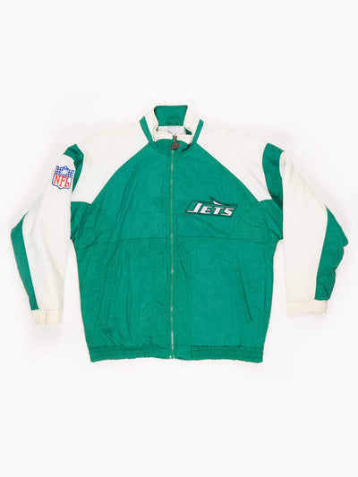 New York Jets NFL Padded Pro Sport Jacket Green / White Size Large