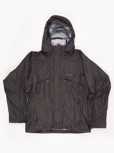 Patagonia Lined Multi Pocket Hooded Coat Black Size Small