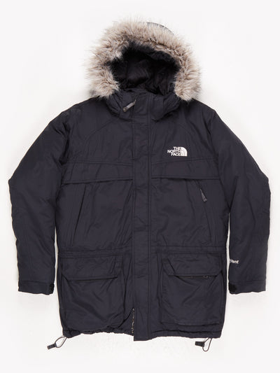 The North Face Padded Parka Faux Fur Trimmed Hood and Multiple Pockets  Black Size XL