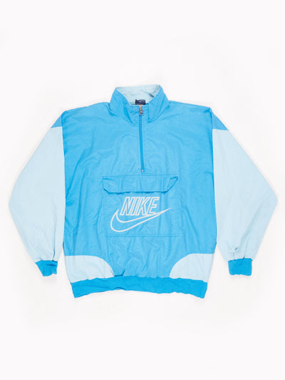 Nike Lightweight Half Zip Pullover Blue / White Size Large