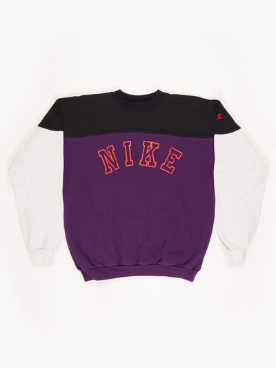 Nike Spell Out Sweatshirt. Grey / Black / Purple / Red Size Small