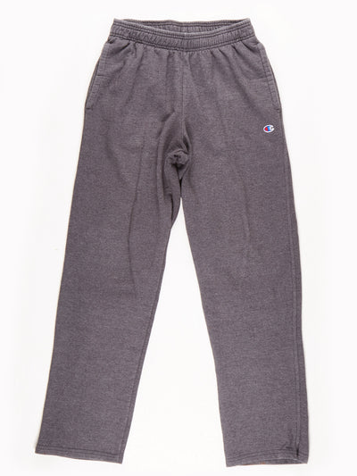 Champion Jersey Tracksuit Bottoms Grey Size Medium