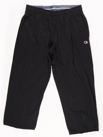 Champion 100% Cotton Tracksuit bottoms Black Size XL