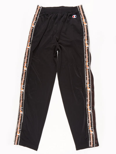 Champion Popper Tracksuit bottoms Black / Orange Size Medium