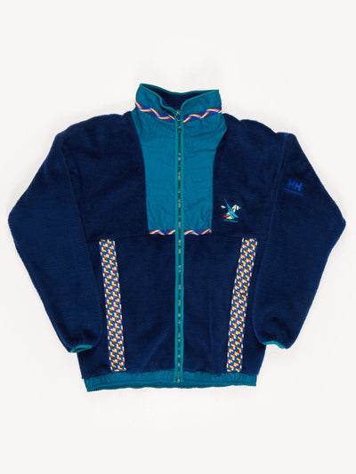 Helly Hansen Patched Fleece. Blue / Green. Size Large