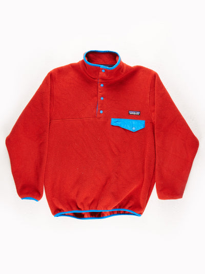 Patagonia Fleece Pullover Red / Blue Size XS
