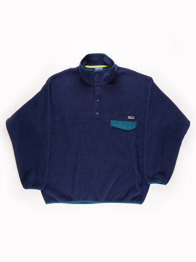 Patagonia Fleece Pullover Blue / Green Size XL