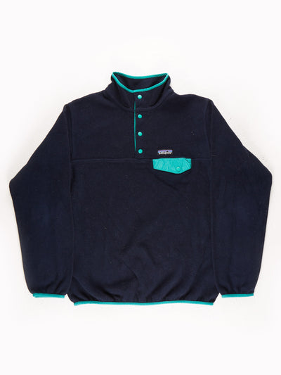 Patagonia Fleece Pullover Blue / Green Size Large