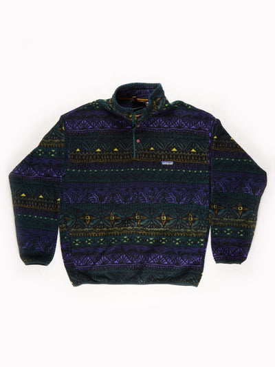 Patagonia Patterned Fleece Pullover Multi Size Large