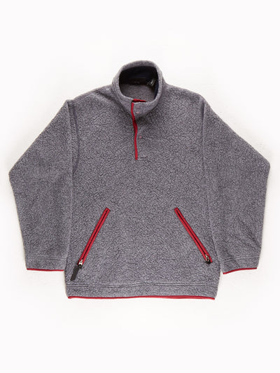 Patagonia Fleece Pullover Grey / Burgundy Size XS