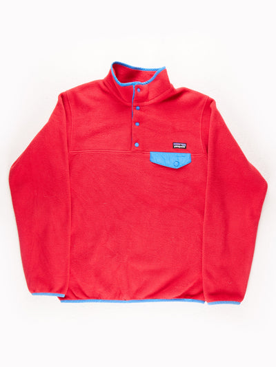 Patagonia Fleece Pullover Pink / Blue Size Small
