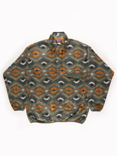 Patagonia Patterned Fleece Pullover Multi Size XL